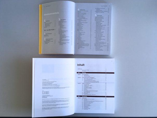 Website-Konzeption-Vergleich Auflage 1-8 Inhaltsverzeichnis
