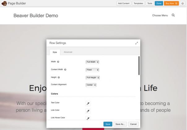 Screenshot Beaver Builder