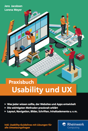 Cover Praxisbuch Usability und UX Buch Jens Jacobsen & Lorena Meyer