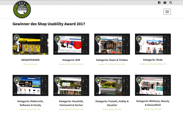 Website Shop Usability Awards