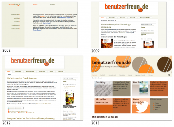 Screenshots Relaunches benutzerfreun.de