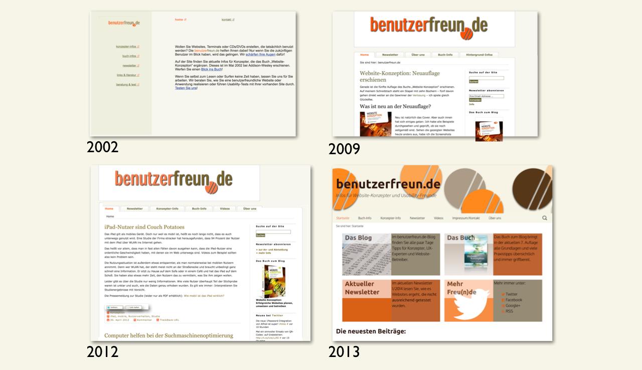 Entwicklung benutzerfreun.de von 2002 bis 2013