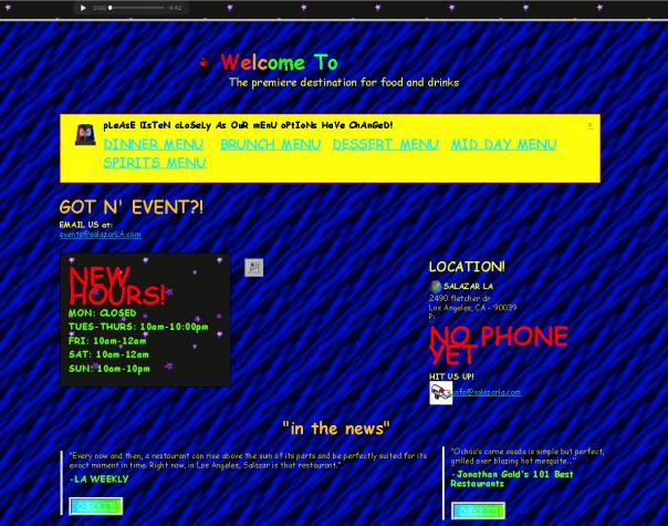 Screenshot Website Antidesign