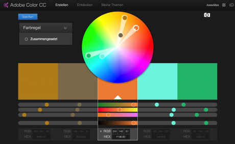 Screenshot Adobe Color CC