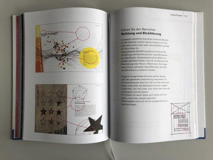 Buch Gestaltung - Blickführung