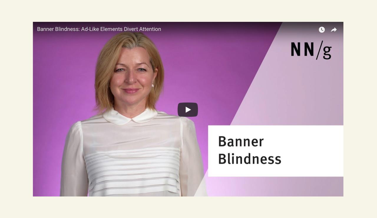 Vorschaubild banner blindness