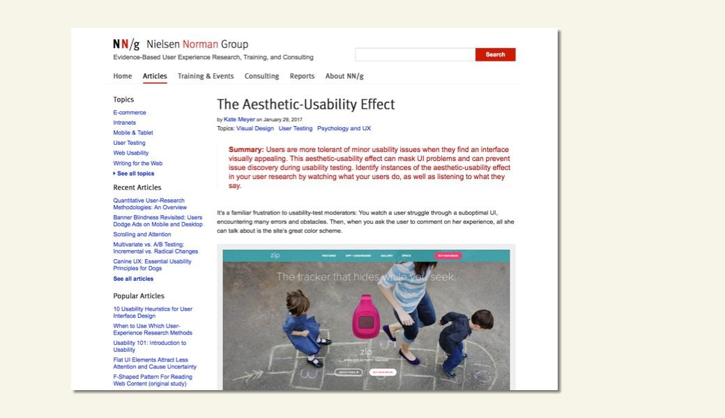 Vorschaubild Aesthetic-Usability Effect