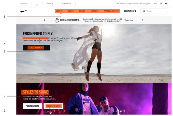 Screenshot Textwahrnehmung auf Webseiten