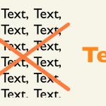 Bessere Sites durch weniger Text – Newsletter 6/2018