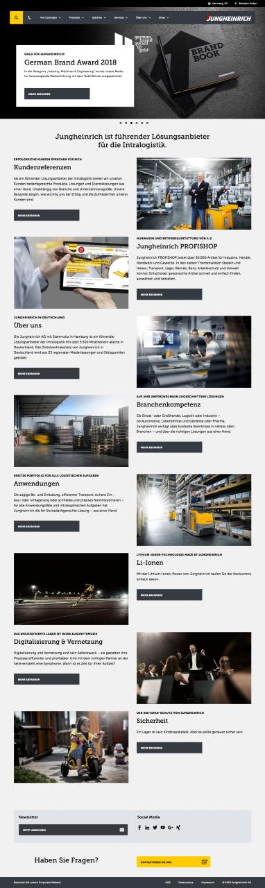 Screenshot Jungheinrich Startseite