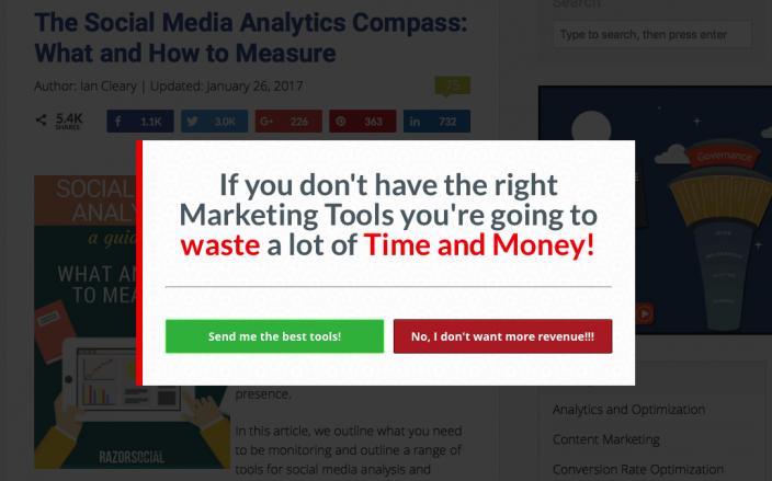 Screenshot Clickshaming Razorsocial