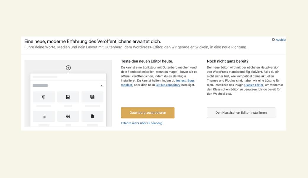 Alles neu bei WordPress –aber ist auch alles gut?