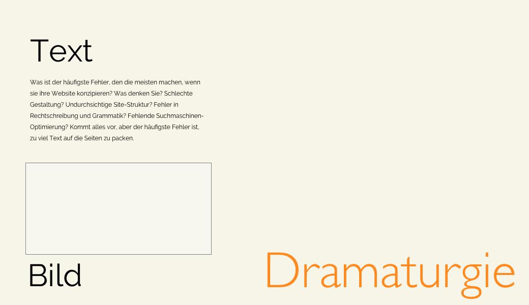Vorschaubild Text-Bild-Dramaturgie