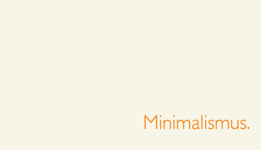 Minimalismus bei Menüs & Inhalten – Newsletter 1/2019