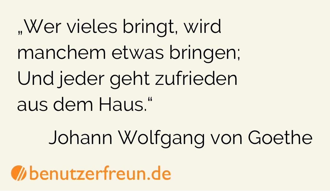 Zitat Auswahl Goethe