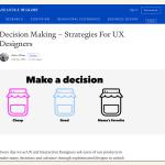 Entscheidungsfindung für UX-Designer