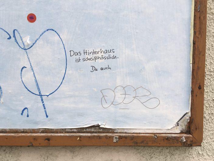 Graffiti Meinungsäußerung zur Gestaltung