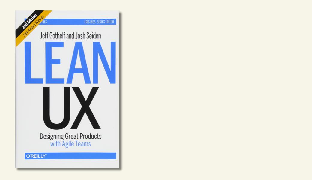 Vorschaubild Buch Lean UX