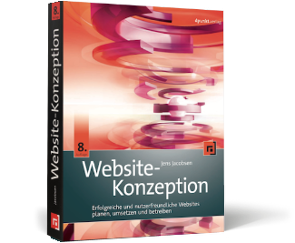 Heroshot Buch Website-Konzeption