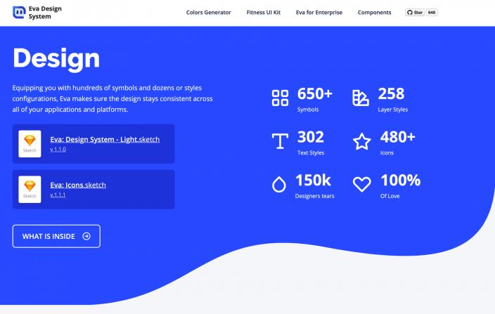 Screenshot Website Eva Design System