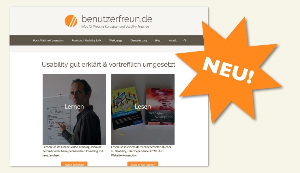 Vorschaubild Relaunch benutzerfreund.de