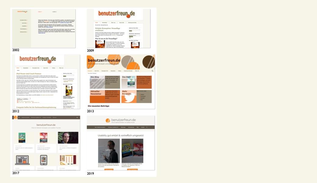 Vorschaubild Änderungen Startseite benutzerfreun.de