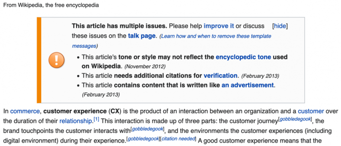 Definition CX auf Wikipedia