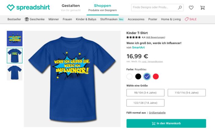 Screenshot T-Shirt Influencer