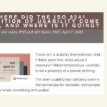 Kleine Geschichte der ISO 9241