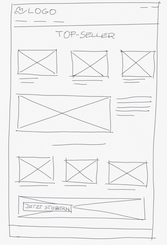 Scribble für einen Webshop