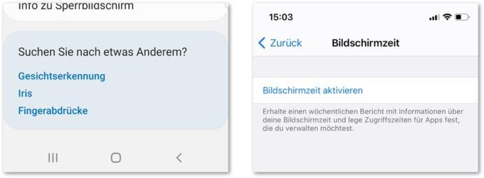 Einstellungen Betriebssystem Android und iOS Duzen vs. Siezen