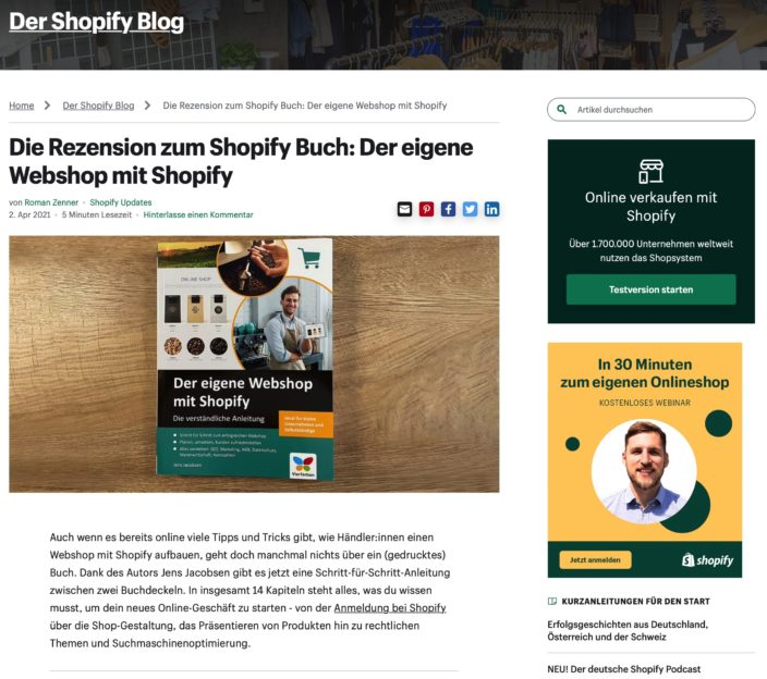 Shopify-Blog rezensiert Shopify-Buch