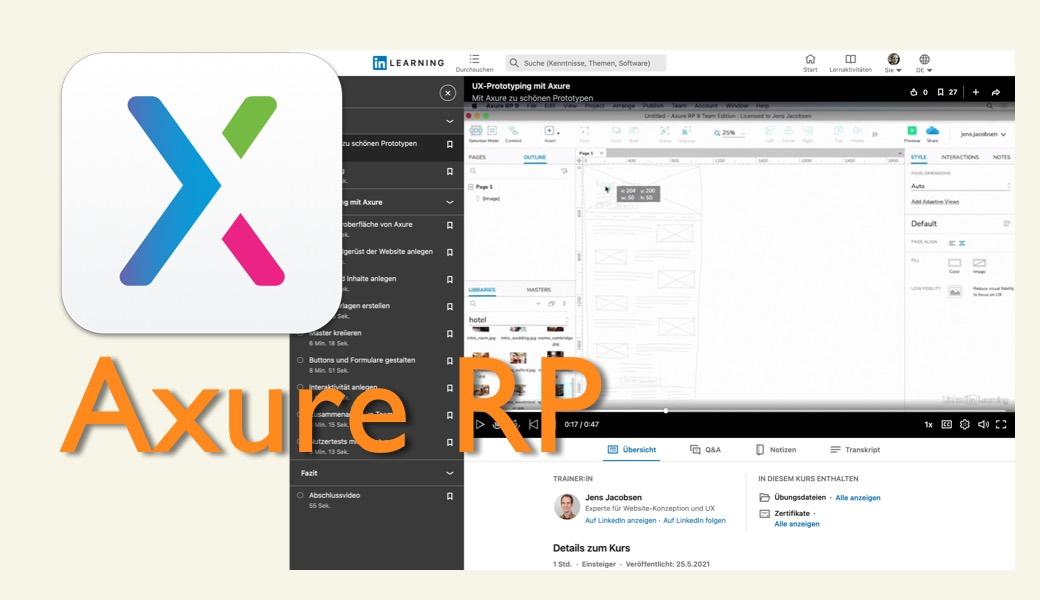 Vorschaubild Axure-Kurs Prototyping